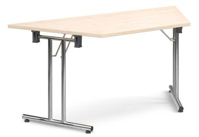 Thorex Trapezoidal Folding Table With A Maple Top