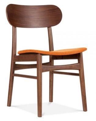 Texas Designer Armchair Orange Seat Front Angle