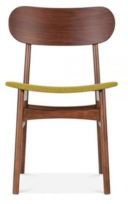 Texas Dining Chair Wioth An Olive Seat Front View