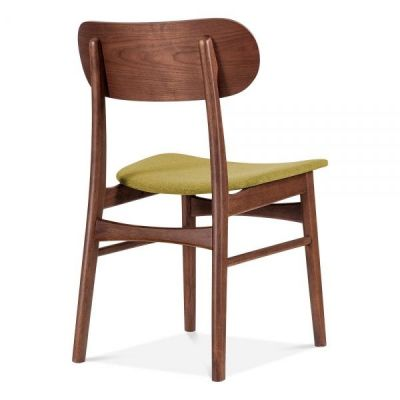 Texas Designer Cchair With An Oilve Green Seat Rear Angle