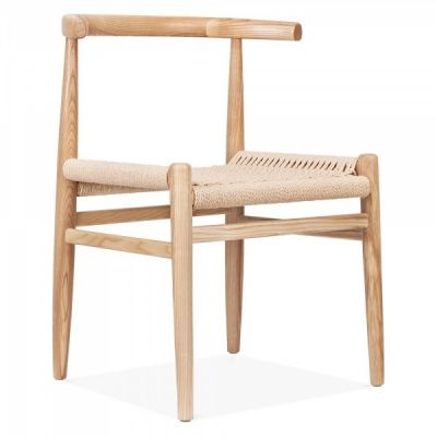 Svenda Dining Chair Natural Finish Front Angle
