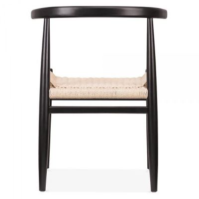Svenda Dining Chair With A Black Frame Rea View