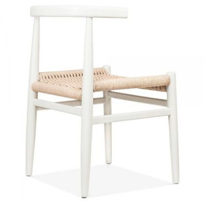 Svenda Designer Dining Chairs With A White Frame Rear Angle