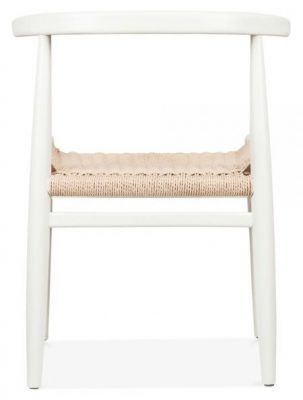 Svenda Designer Dining Chairs With A White Frame Rear View